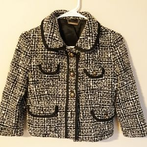 Express Womens Military Tweed Coat Sz 4